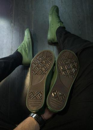Мужские кеды кроссовки! цвет хаки!3 фото
