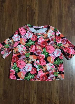 Блуза, кофта с цветочным принтом
