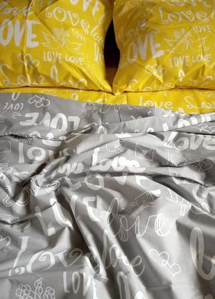 Двуспальный комплект постельного белья  бязь gold3 фото