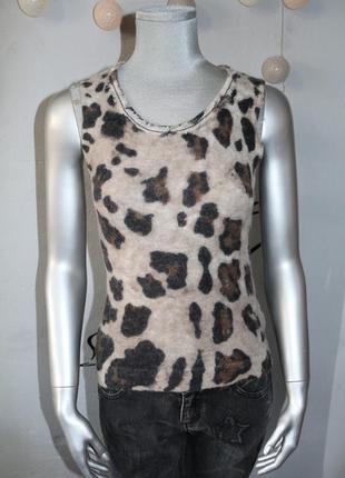 Леопардовый шерстяной топ luisa carano