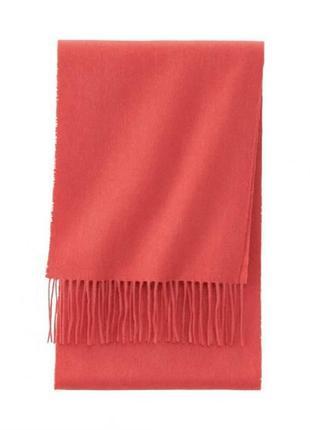 Кашемировый шарф uniqlo