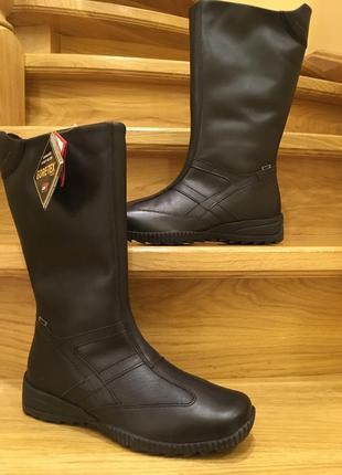 Шкіряні теплі чобітки на gore tex р-38