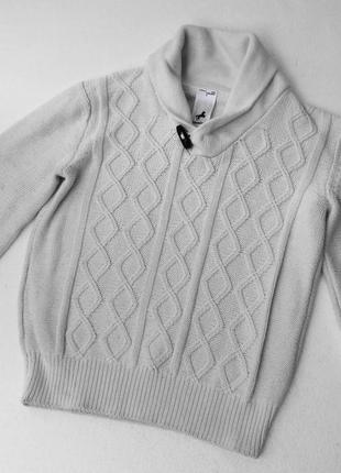 C&a palomino. вязанный белый джемпер. 122 размер. хлопок.