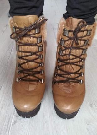 Кожаные ботинки 37р