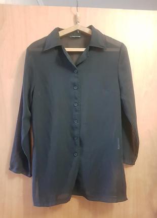 Блузка черная прозрачная