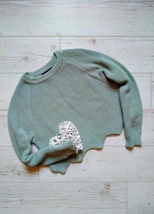 Укороченый свитер кроп  р. 10-12