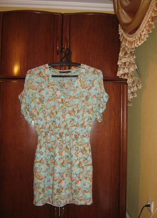 Платье zara, 100% вискоза, размер s, морокко