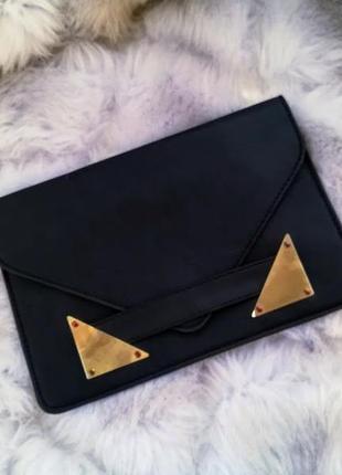 Черный клатч-конверт