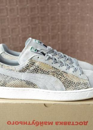 Puma suede р.44-28,5см кожаные кроссовки.