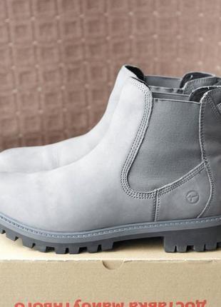 Tamaris р.39-25см кожаные челси, ботинки.