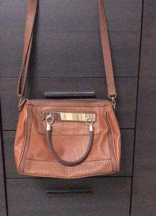 Коричневая сумка new look!