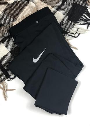 Спортивные штаны nike dri-fit original зауженные ,чёрные xl мужские run