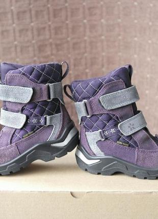 Ecco gore-tex р.23-14,5см на меху ботинки.