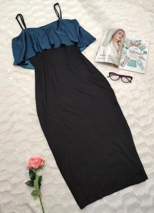 Платье-сарафан в пол с воланами asos, р-р eur 40-m