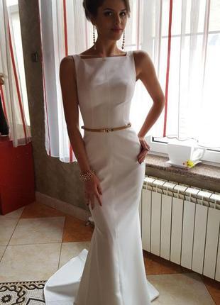 Вечернее белое платье. свадебное белое платье оксана муха a5ffabd9a3f54