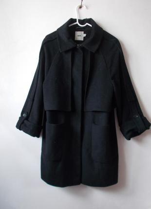 Черное шерстяное пальто asos бойфренд пальто кокон f54f38fa57a11