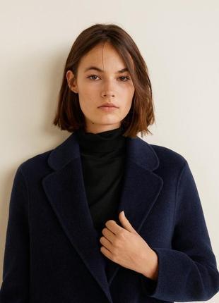 Шикарное шерстяное пальто mango3