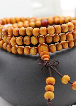 Необычный рыжий браслет из сандалового дерева-мужской, женский, унисекс