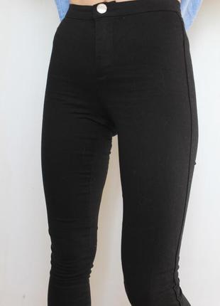 Bik bok скини джинсы с высокой посадкой черные