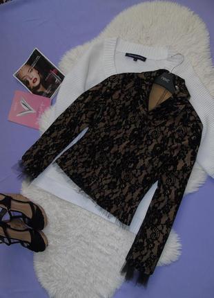 Пиджак с фатиновыми вставками и бархатным напылением/don't imitate