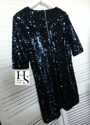 Шикарное платье в паетки esmara heidi klum(  s/ маленькая m см.замеры)