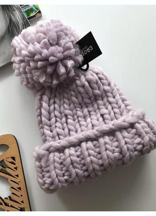 Новая шапка крупной вязки cropp