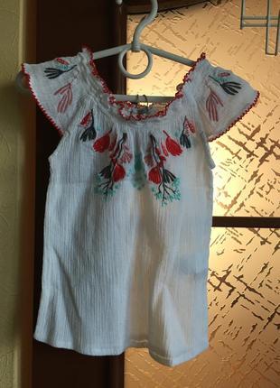 Платье с вышивкой 6м