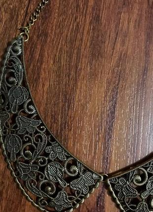 Очень оригинальное ожерелье, воротник бронз на цепочке