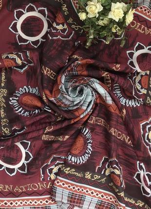 Брендовый 🌺👑🌺 шелковый платок из шёлка esprit.