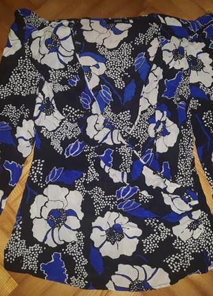 Шикарная шелковая блуза на запах от oasis! p.-14