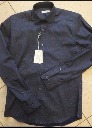 Мужская тоненькая рубашка castello d'oro