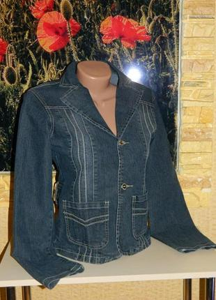 Куртка пиджак джинсовая женская темно-синяя размер 42-44 jd.