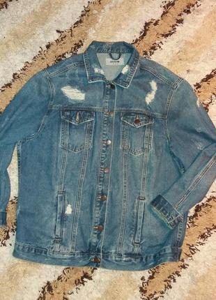M/l  джинсовка new look (оригинал) uk 14 джинсовая куртка.