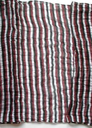 Стильный жатый палантин шарф, полоска, франция-176х59см- новый, с биркой2