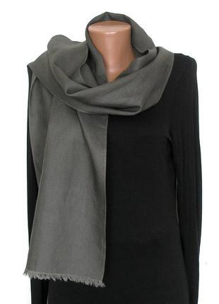 Классический плотный шарф, унисекс, лен+хлопок,-150х31см,- новый
