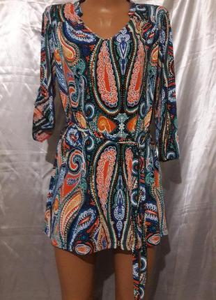 Туника-платье под пояс