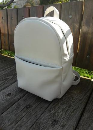 Белый женский рюкзак для прогулок, учёбы, города
