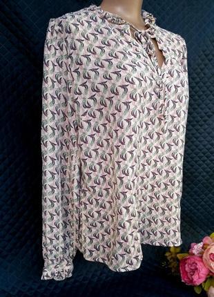 Красивая вискозная блуза в перышки размер 18 (48-52)