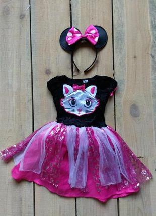 Канавальное платье кошечка 1-2 года