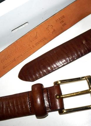 """Очень мягкий новый кожаный ремень """"marks & spencer"""". англия. 90 см."""