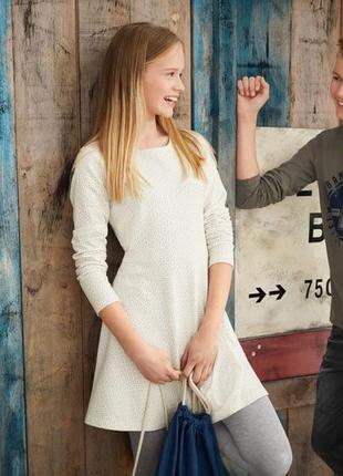 Стильное платье туничка для девочки pepperts германия р.  158/164