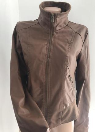 Куртка из кожзама new look косуха размер с м сша