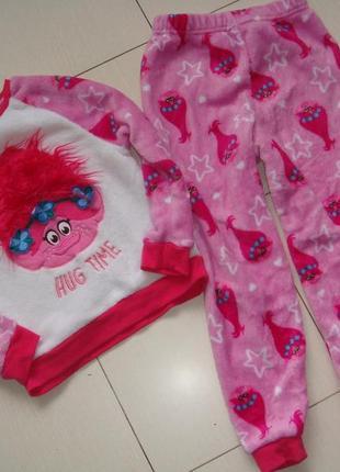 Теплая пижамка 6-7лет