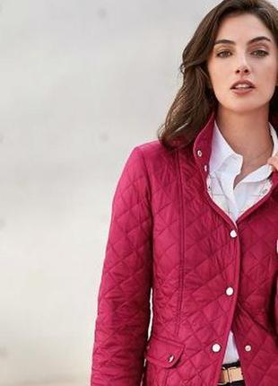 Стеганая куртка south, цвет фуксия