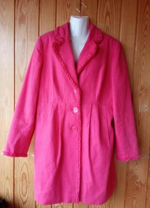 Котоновый плащ-пиджак