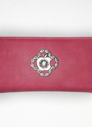 Розовый кошелёк клатч