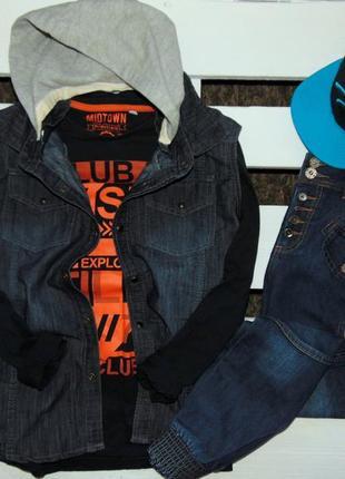 Стильний джинсовий look(з 3-х речей) на ріст 164
