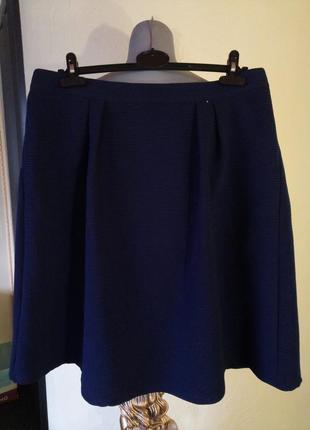 Комфортная,стильная трикотажная юбка-колокол,миди,батал
