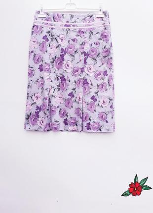 Волшебная юбка миди лавандового цвета неповторимая