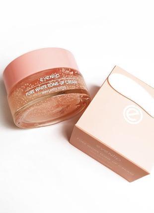 Cc крем для лица ,, тонирующий eyenlip pure white tone-up cream, придает сияние коже